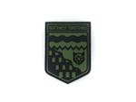 PVC Morale Patch -Provincial Shield - NORTHWEST TERRITORIES BLACK & OD GREEN