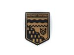 PVC Morale Patch -Provincial Shield - NORTHWEST TERRITORIES BLACK & TAN