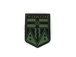 PVC Morale Patch -Provincial Shield - YUKON BLACK & OD GREEN