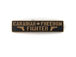 "PVC Morale Patch - Canadian Freedom Fighter - Black & Tan - 1""x 4"""