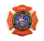 "Chrome Morale Patch - FIRE MEDICAL RESCUE SERVICES 3""x3"""