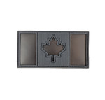 "IR Morale Patch - Canadian Flag - Black IR & Grey  2""x4""- Visible with Night Vision Technology"
