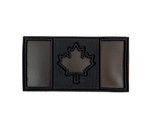 "IR Morale Patch - Canadian Flag - Black IR & Black  2""x4""- Visible with Night Vision Technology"