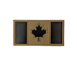 "IR Morale Patch - Canadian Flag - Black IR & Tan  2""x4"" - Visible with Night Vision Technology"