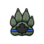 PVC Morale Patch - Canadian - Thin Blue Line K9 - Black & Green