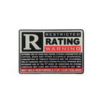 "PVC Morale Patch - ""R"" RATED WARNING"