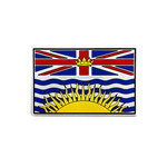 "PVC Morale Patch - Provincial Flag - BRITISH COLUMBIA - FULL COLOUR 2""x3"""
