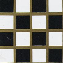 """3/8"""" Square White/Black Floor Tile"""