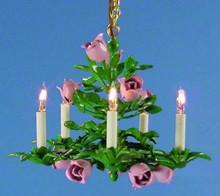 Five-Light Floral Chandelier by Lighting Bug Ltd