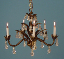 Five-Arm Dark Bronze Chandelier by Lighting Bug Ltd