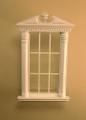 Corinthian Carved Window in White or Walnut by Bespaq