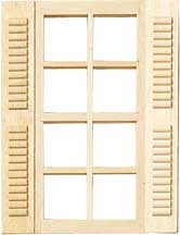 Standard 8-Light Window w/Shutters by Houseworks