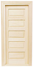 5-Panel Traditional Interior Door by Houseworks