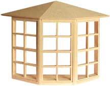 24-Light Bay Window by Houseworks