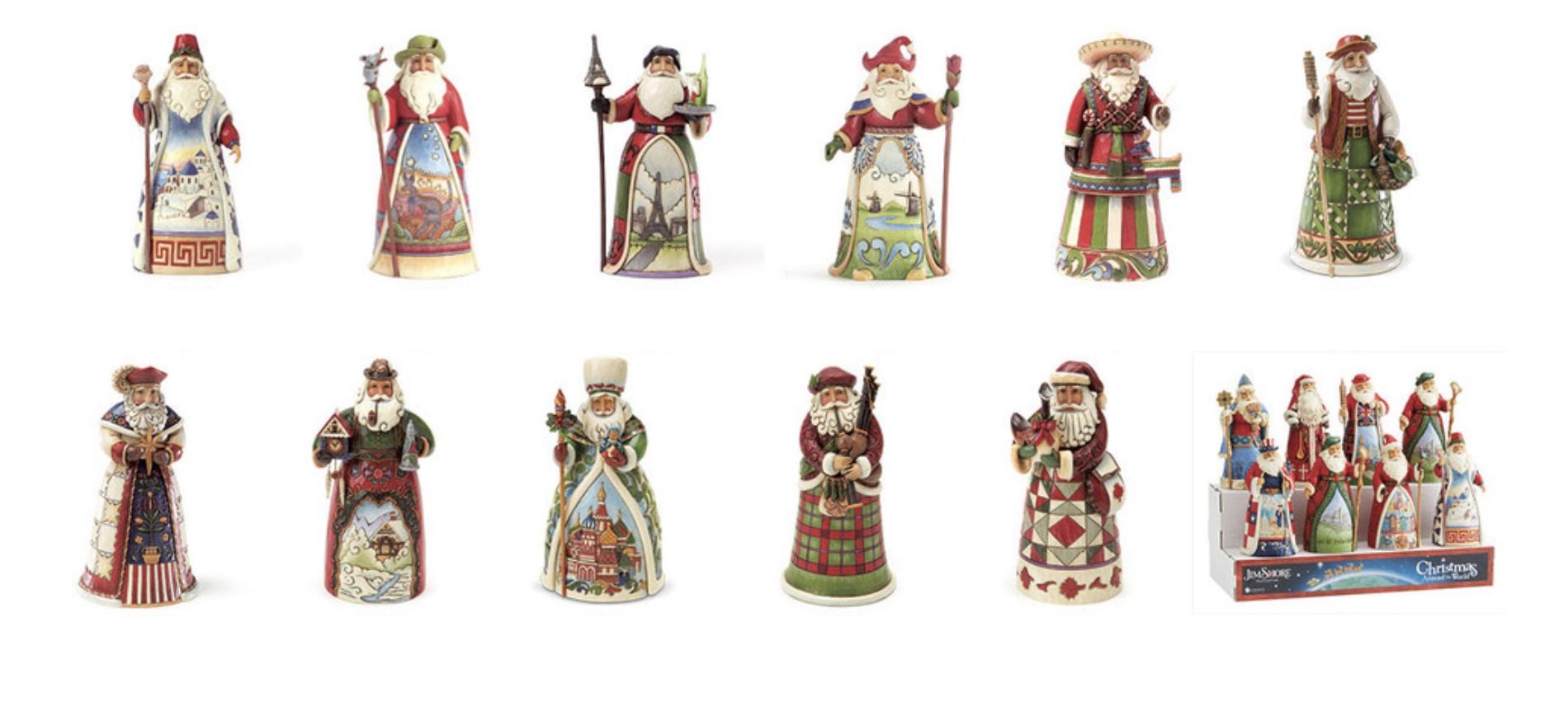 Jim Shore Santas around The World