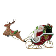Santa Claus Sleigh and Reindeer