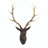Black & Natural Samba Resin Deer Head