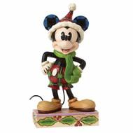Merry Mickey Mouse Christmas Figurine