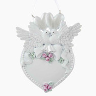 Kurt Adler Doves and Heart Hanging Ornament