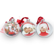 Plastic Photo Bauble - 70mm