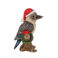 Kookaburra with Wreath Figurine - 13cm