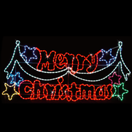 NEON LED ROPELIGHT MERRY CHRISTMAS 195x87cmH