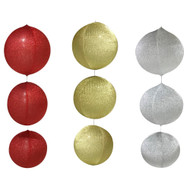 Inflatable Tinsel Baubles - 60cm