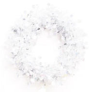 Christmas Tinsel Wreath - White Dots