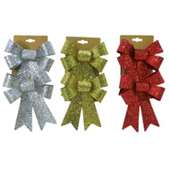 Deluxe Glitter Bow Twin Pack - 18cm