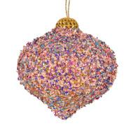 Pastel Sequin Hanging Onion Ornament - 14cm