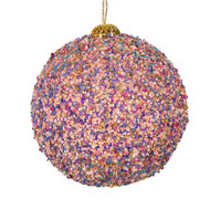 Pink Sequin Bauble Hanging Ornament