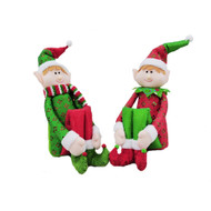 Red & Green Sitting Door Stop Elf