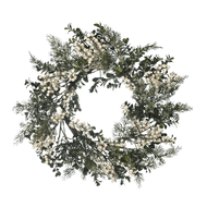 White Berry & Cedar Wreath - 56cm