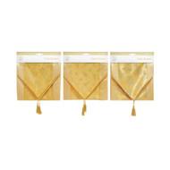 Gold Sateen Glitter Table Runner - 142cm