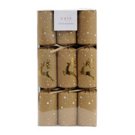 Natural Gold Reindeer Christmas Crackers