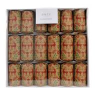 Luxury Vintage Look Red Green Deer Christmas Crackers