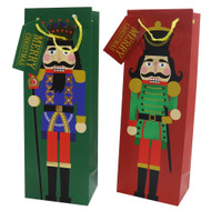 Christmas Nutcracker Bottle Gift Bag