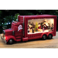 Musical LED Santa in Truck with Village Scene