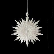Glittered Burst Snowflake Ornament - 14cm