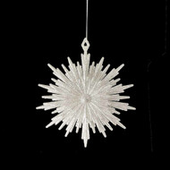 Glittered Burst Snowflake Ornament