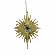 Gold Gem Burst Ornament - 14cm