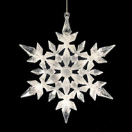 White Acrylic Glittered Snowflake Ornament