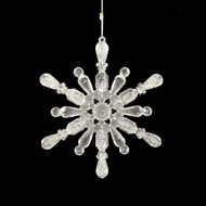 Acrylic Glittered Snowflake Hanging Ornament - 13cm