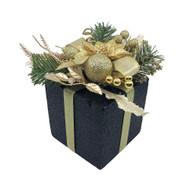Glittered Black & Gold Decorative Gift Box