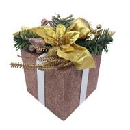 Glittered Rose Gold Decorative Gift Box