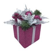 Hot Pink Glittered Decorative Gift Box