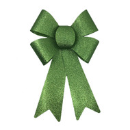 Glittered Green Bow - 25cm