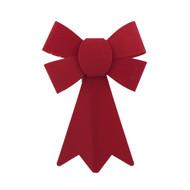 Velvety Red Bow - 18cm