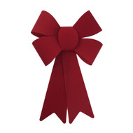 Velvety Red Christmas Bow - 25cm