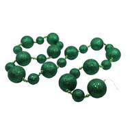 Green Glittered Bauble Garland